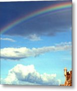 Rainbow Over El Morro Fortress Metal Print by Thomas R Fletcher