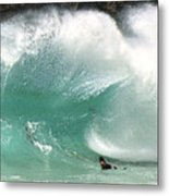 Sandy Beach Shorebreak Metal Print