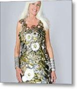 Sara In Clockwork Dragon Dress  Metal Print