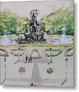 Schlossgarten Erlangen University Germany Metal Print