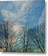 Sky And Cloouds Early Evening Metal Print