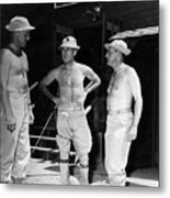 Soldiers Without Shirts 91st Infantry Division Metal Print