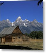 South Moulton Barn Grand Tetons Metal Print
