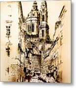 St. Nicholas Church In Prague Metal Print