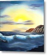 Sunset Beach Pastel Splash Dreamy Mirage Metal Print