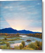 Swan Valley Sunrise Metal Print
