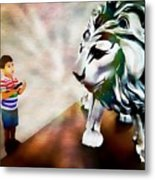 The Boy And The Lion 2 Metal Print