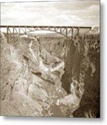 The Crooked River High Bridge Is A Steel Arch Bridge That Spans Oregon Built In 1926  Circa 1929 Metal Print