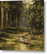 The Forest Brook Metal Print