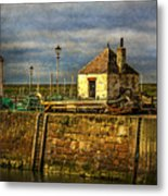 The Harbour At Maryport Metal Print