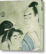 The Lovers Ochiyo And Handei  Metal Print