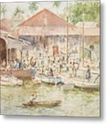 The Market Belize British Honduras Metal Print