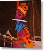 The Night Sail Metal Print