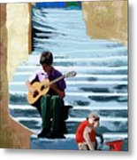.  .the Two Wanderers.  . Metal Print