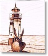 Vermilion Lighthouse Metal Print