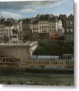 View Of The Seine Metal Print