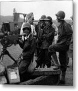 Wacs Learning Fire Machine Gun Circa 1943 Black Metal Print