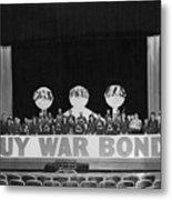 War Bond Rally Buy Bonds February 1944 Black Metal Print