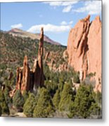 West Garden Of The Gods Metal Print