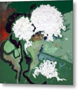 White Flowers  Metal Print by Therese AbouNader