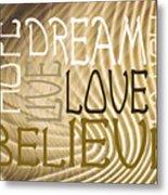 Words Of Love 6 Metal Print
