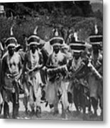 Yurok Indians In Ceremonial Costumes Circa 1905 Metal Print