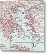 Map: Ancient Greece Metal Print