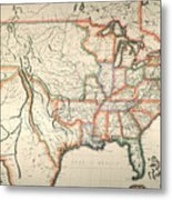 Map: United States, 1820 Metal Print