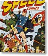 World War II: Comic Book Metal Print