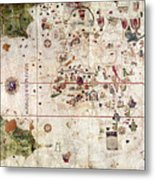 Nina: World Map, 1500 Metal Print
