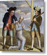 Tarring & Feathering, 1774 Metal Print