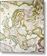 Map Of Europe, 1623 Metal Print