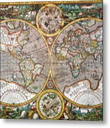 World Map, 1607 Metal Print