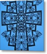 001 Butterfly-cross Metal Print