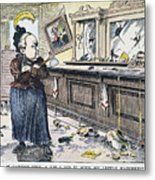 Carry Nation Cartoon, 1901 Metal Print