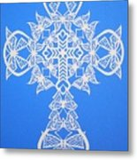 002 Butterfly-cross Metal Print