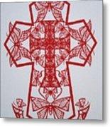 003 Butterfly-cross Metal Print