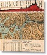 Card: Panama Canal, 1914 Metal Print