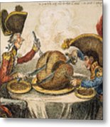 Napoleon Cartoon, 1805 Metal Print