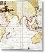 Indian Ocean: Map, 1705 Metal Print