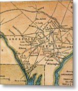 Underground Railroad Map Metal Print