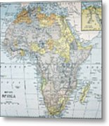 Map: Africa, 19th Century Metal Print
