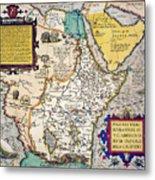 African Map, 1595 Metal Print