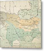 Balkan Map, 1885 Metal Print