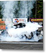 0056 08-04-2013 Lebanon Valley Dragway Night Of Fire Metal Print