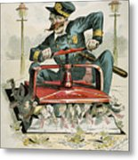 Police Corruption Cartoon Metal Print