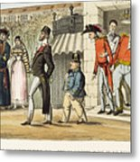 Paris Occupation, 1814 Metal Print