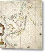 Map: East Indies, 1670 Metal Print