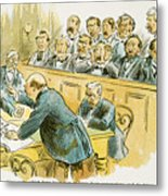 Litigation Cartoon Metal Print