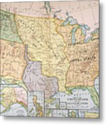 Map: U.s. Expansion, 1905 Metal Print
